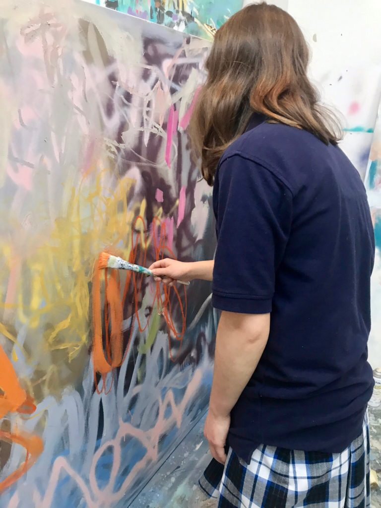 Screen-free fun: Gracie Dix Painting