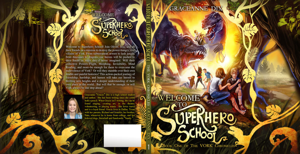 How To Create A Book Cover: Welcome To Superhero School