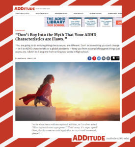 ADDitutude Magazine - Gracie Dix