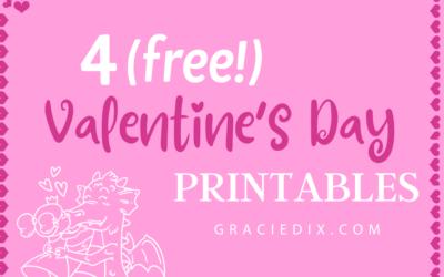 4 (free!) Valentine's Day Printables